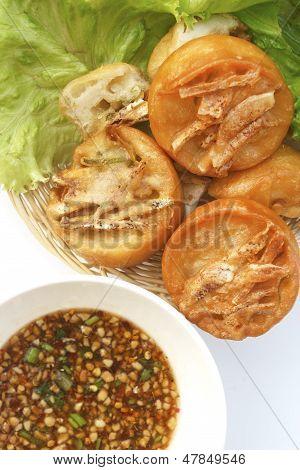 Thai food spring roll