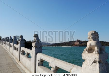 Stone Lions Of Summer Palace.