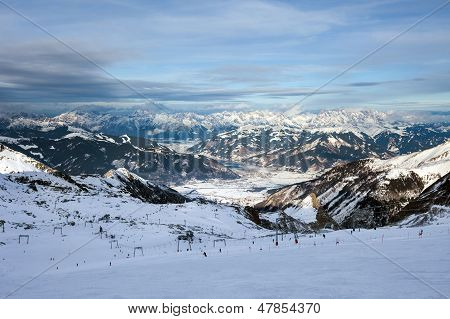 Ski Slopes In Kaprun Resort