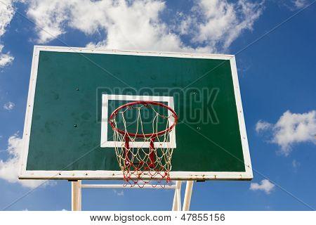 Basketball Board In Blue Sky