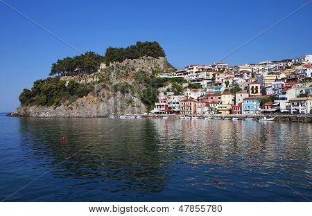 Parga city in Greece
