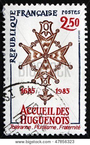 Postage Stamp France 1985 Huguenot Cross