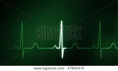 The Green Graphic Of Ekg Monitor For Medical Theme
