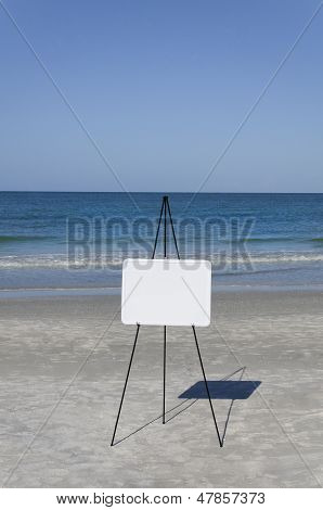 Whiteboard At The Sea
