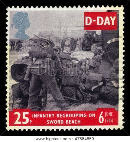 Infantry Regroupong On Sword Beach, D-day