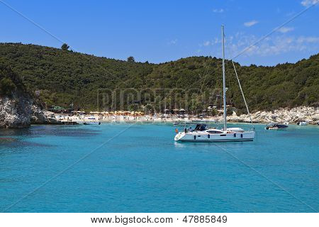 Antipaxos island in Greece