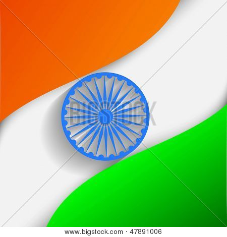 Indian Independence Day or Republic Day background with nation flag waving.