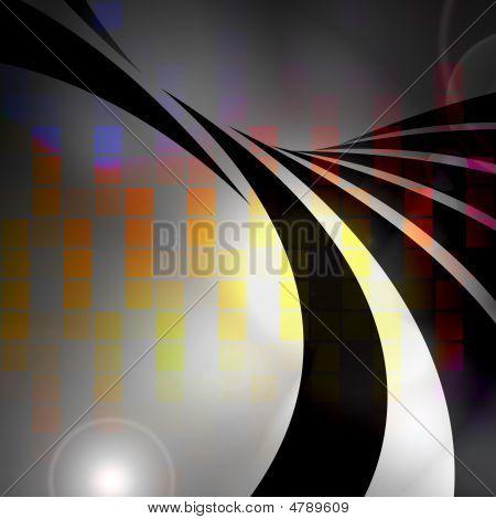 Colorful Audio Waveform