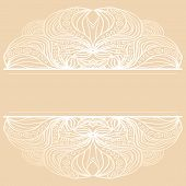 Abstract white borders on beige background. Pattern can be used as element of design or frame for your text or image. poster