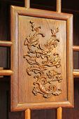redwood furniture traditional Chinese art style closeup of photo poster