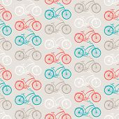 Bicycles seamless pattern in retro style. This is file of EPS8 format. poster
