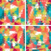 Seamless triangle patterns in retro style. This is file of EPS8 format. poster