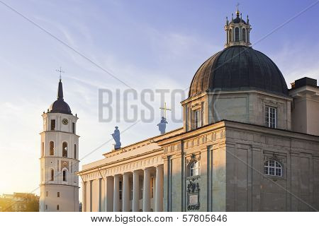 Vilnius Cathedral And Belfry Tower