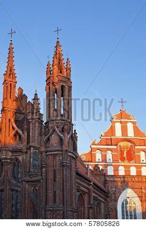 St. Anne's Church And Bernardine Monastery In Vilnius