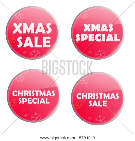 Glossy Christmas Button