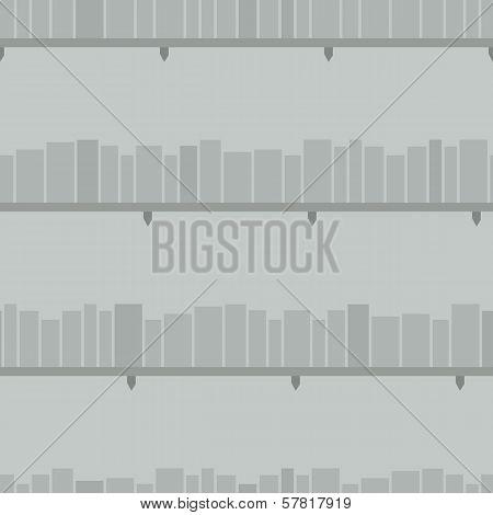 Simple Bookshelves Seamless Background.