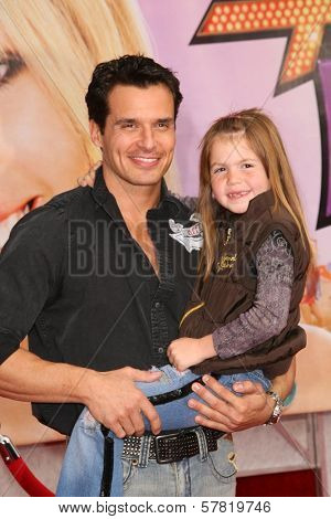 Antonio Sabato Jr and daughter Mina  at the Los Angeles Premiere of 'Hannah Montana The Movie'. El Capitan Theatre, Hollywood, CA. 04-02-09