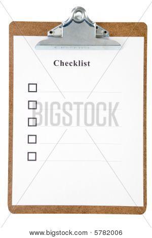 Lista de verificação