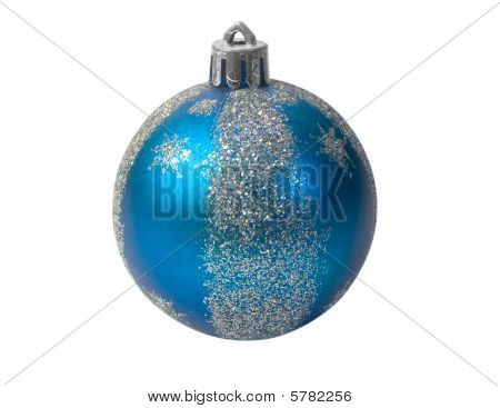 Blue Fur-tree Sphere Isolated On A White Background.