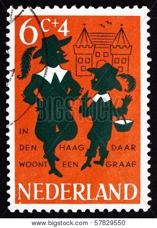 Postage Stamp Netherlands 1963 Nursery Rhyme