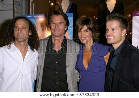 Kenny G and Harry Hamlin with Lisa Rinna and Louis van Amstel   at the launch party for 'Dance Body Beautiful' series of DVDs by Lisa Rinna. Belle Gray, Sherman Oaks, CA. 12-09-08
