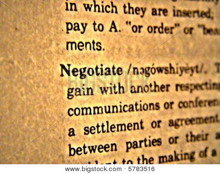 Dictionary Negotiate
