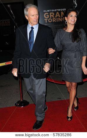 Clint Eastwood and Dina Eastwood   at the World Premiere of 'Gran Torino'. Warner Bros Studios, Burbank, CA. 12-09-08