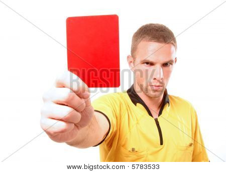 Football Judge With Cards