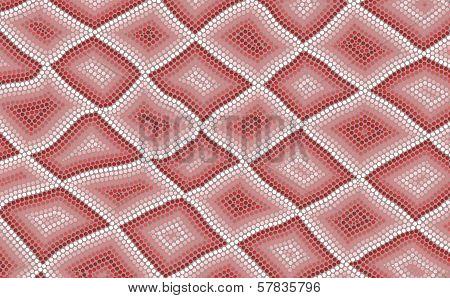 An Illustration Based On Aboriginal Style Of Dot Painting Depicting Snake Skin