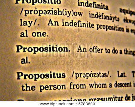 Dictionary Proposition