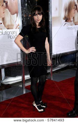Zoe Kazan   at the World Premiere of 'Revolutionary Road'. Mann Village Theater, Westwood, CA. 12-15-08