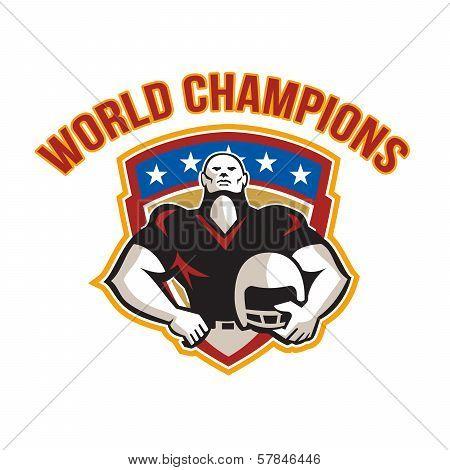 American Football World Champions Shield