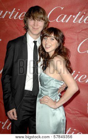 Paul Dano and Zoe Kazan  at the Palm Springs Film Festival Gala. Palm Springs Convention Center, Palm Springs, CA. 01-06-09