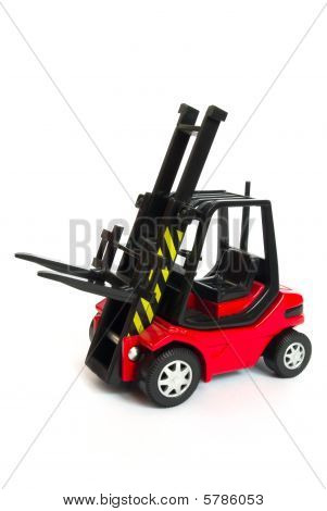 Red Toy Forklift