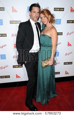 Adam Kaufman and Poppy Montgomery  at the G'Day USA Australia Week 2009 Black Tie Gala. Renaissance Hotel Grand Ballroom, Hollywood, CA. 01-18-09