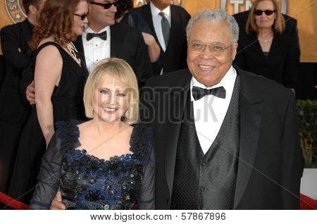 Cecilia Hart and James Earl Jones at the 15th Annual Screen Actors Guild Awards. Shrine Auditorium, Los Angeles, CA. 01-25-09