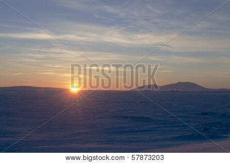 Sunset in Chukotka