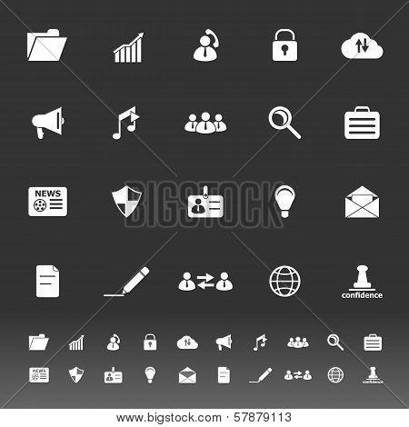 General Document Icons On Gray Background