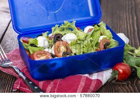 Healthy Lunchbox With Fresh Salad