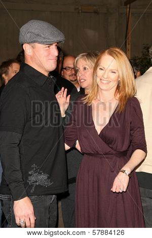 George Eads and Marg Helgenberger at the CSI Crime Scene Investigation 200th Episode Celebration. Universal Studios, Universal City, CA. 02-10-09