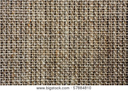 natural crumpled burlap as background or texture poster