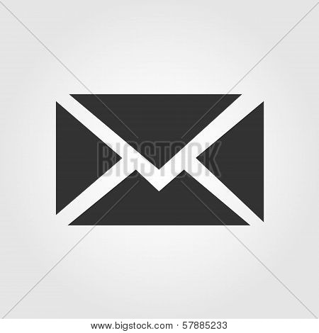 Email message icon, flat design