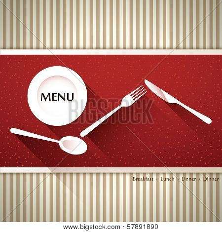 vector restaurant menu brochure cover design template poster