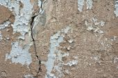 The pattern of old wall with cracks texture poster
