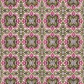 Computer generated illustration of hypnotic patterned wallpaper poster
