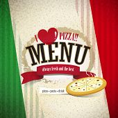 vector pizzeria menu brochure cover design template poster