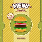 vector fast food restaurant menu brochure cover design template poster