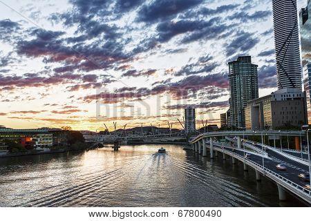 Sunset over the Brisbane River