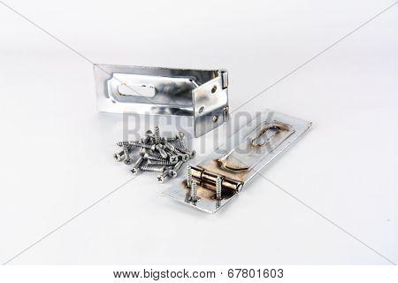 Hinge and screws