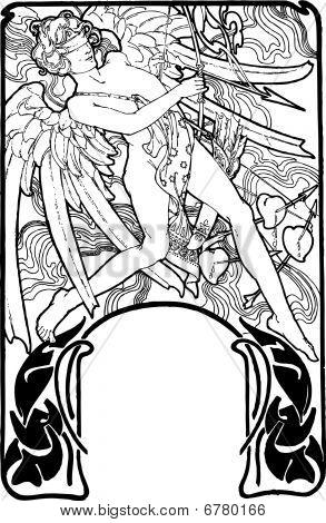 Cupid vector illustration. Valentines day